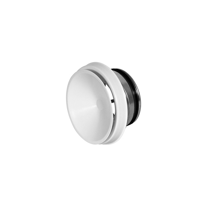 BOCCHETTA DI MANDATA - White steel adjustable round air supply valve +1 bracket