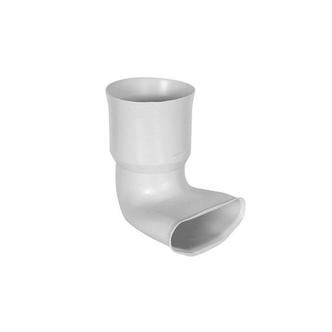RACCORDO AD ANGOLO 90°  - Raccordo collettore tubo tondo - tubo piatto