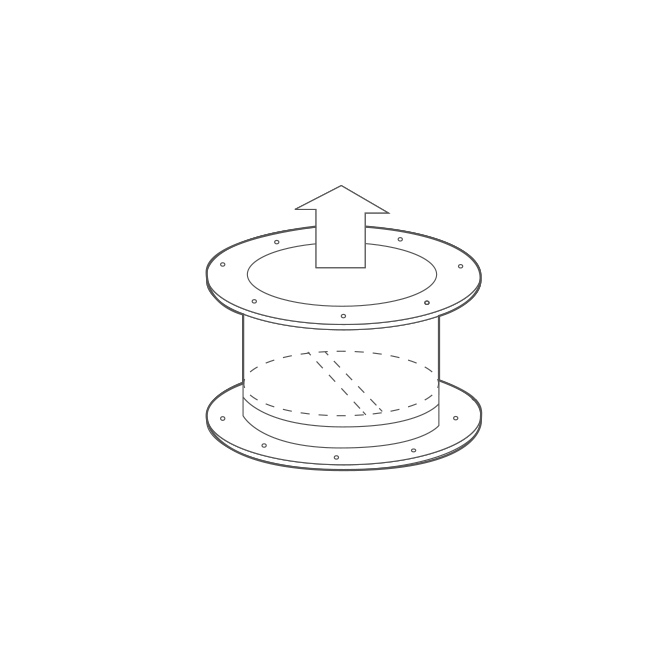 SERRANDA A GRAVITÁ - Gravity shutter for TXP-TXV series
