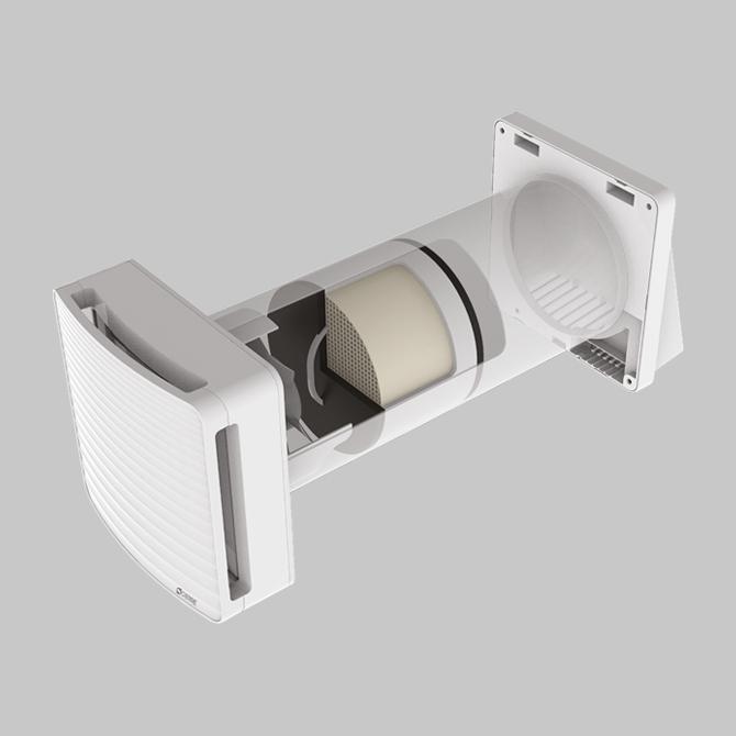 Tempero Eco Ceram - Recuperatore di calore puntuali - singolo flusso